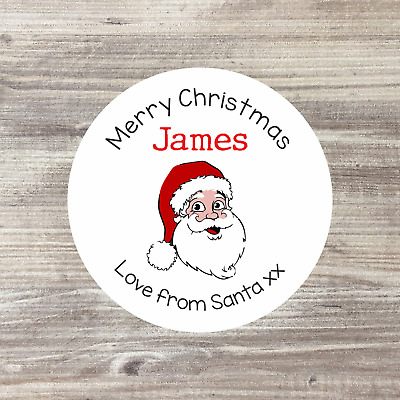 35 x Personalised Christmas Stickers Santa Father Christmas Present Labels