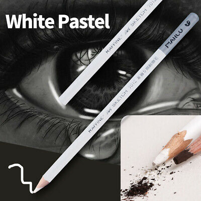 1/4pcs White Pastel Charcoal Drawing Sketch Pencil Art Artist Craft Tool CY