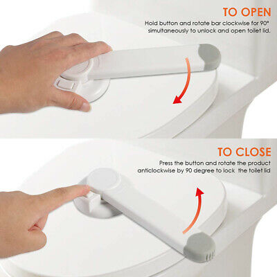 Toilet Seat Lock Safety Lid Child Proof Baby Toddler Kids Potty Protect Latches
