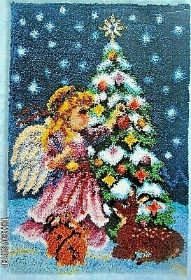 "Latch Hook Christmas Rug making Kit  ""CHRISTMAS ANGEL""  UK seller"