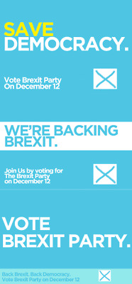 BREXIT PARTY Political Posters/Adverts A5, A4, A3, A2 High Quality 200gsm