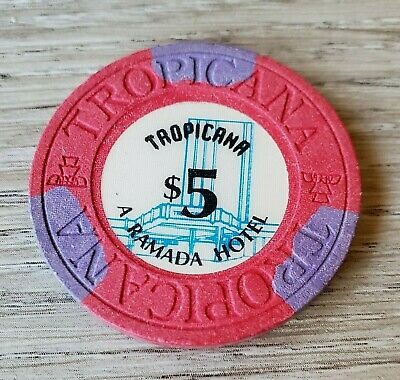 $5 Las Vegas Tropicana A Ramada Hotel Casino Chip  - Near Mint