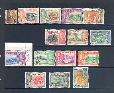 Dominica Sg 120-34 Gvi 1951 Definitive Set Cat. £ 95 Fine Used