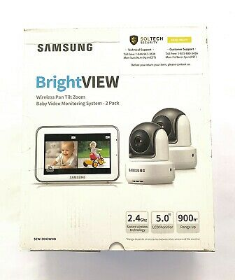 Samsung BrightView Wireless Pan Tilt zoom - Baby Video Monitoring System -2 pack