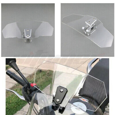 Adjustable Clip On Windscreen Windshield Wind Extension Spoiler For Motorcycle