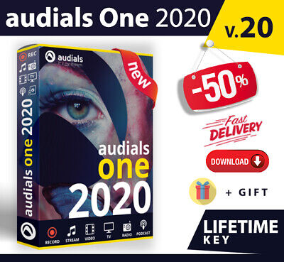 Audials One 2020 Platinum 🔝 Lifetime LICENSE KEY 🔐 Instant Delivery 📩+ Gift🎁