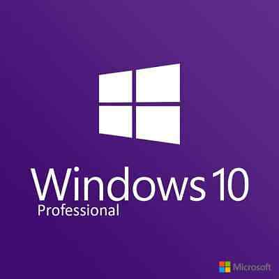 Microsoft Windows 10 Professional Pro Product Key Activation Licence 32 / 64 bit