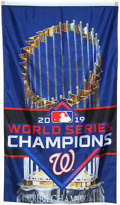 Washington Nationals 2019 World Series Champions Flag 3x5ft Banner US free ship