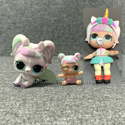 With LIL Sis & pet LOL Surprise Doll Unicorn Doll Confetti Pop 3-012 Genuine toy