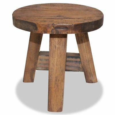 Stool Small Wooden Traditional Milking Seat Rustic Footstool Furniture Reclaimed