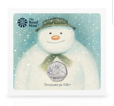 Royal Mint The Snowman 40th Anniversary 50p Coin Brand New Presentation Pack