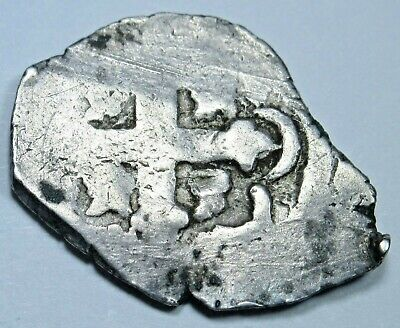1700s Spanish Mexico OMJ Silver 1/2 Reales Real Antique Colonial Pirate Cob Coin