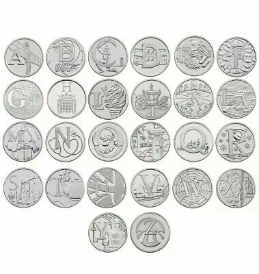 2018 A-Z FULL SET 10p Coins Unc from Royal Mint Alphabet A to Z Ten Pence