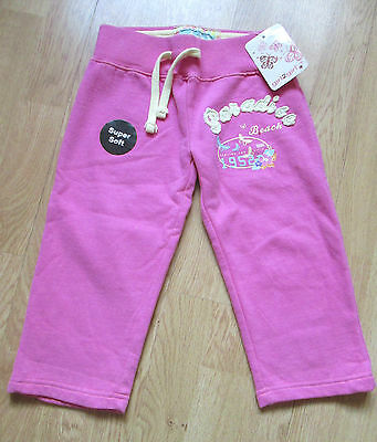 New Girls Pink Trousers Leisure Pants With Logo Size 4-5 Years Super Soft