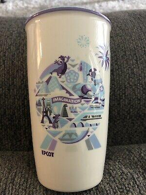 Starbucks Disney Parks Epcot Icons And Attractions Ceramic Coffee Travel Tumbler