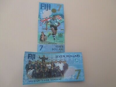 Fiji $7 Rugby Bank note Rugby and Olympics