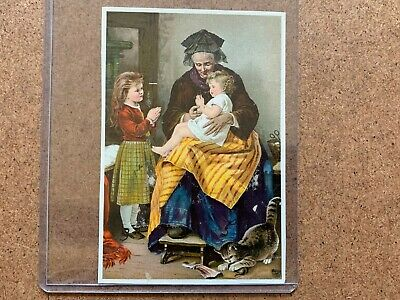Vintage Dr Jaynes Tonic Vermifuge Morning Prayer Medicine Advertising Trade Card