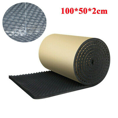 Car Sound Proofing Deadening Insulation Heat Pad Closed Cell Foam Mat 100x50cm