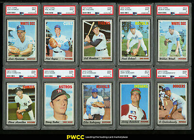 Lot(21) 1970 Topps w/ Fisher Morehead Aparicio McDowell, ALL PSA 9 MINT (PWCC)