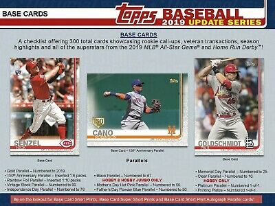 2019 Topps Update Veteran and Rookie Base US1-US150 Pick Your Card