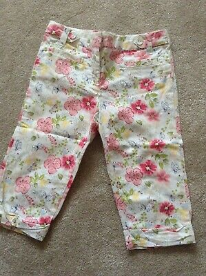 Girl age 8 years crop trousers Next cotton white smart cropped ideal for wedding