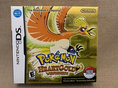 DS NO GAME Box ONLY Pokemon Heartgold Version Super Quick FREE Shipping