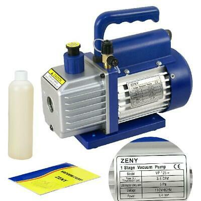Zeny 3,5 CFM Single-Stage 5 Pa Rotary Vane Vacuum Pump 1/4HP Air Conditioner Ref