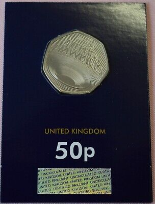 Royal Mint STEPHEN HAWKING Fifty 50p Pence 2019 Brilliant Uncirculated Coin