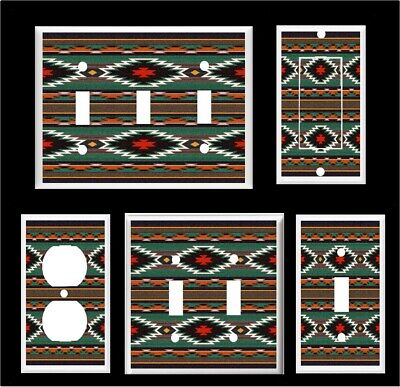 RED LATIN SOUTHWEST WESTERN BLANKET 1 GFCI LIGHT SWITCH WALL PLATE ROOM HD DECOR