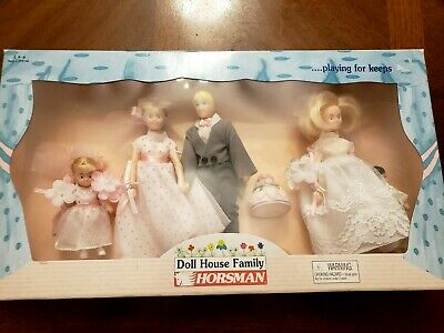 Vintage Horsman Doll House Family Bridal Party #6018-6 New Old Stock