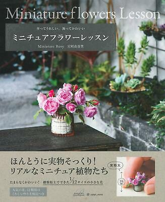 Polymer Clay Miniature Flowers Lesson /Japanese Craft Pattern Book From jap