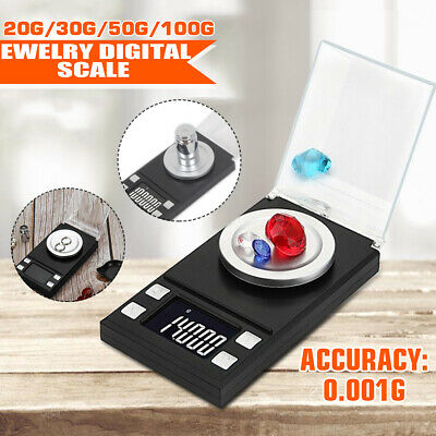 Pocket Digital Scales Jewellery Gold Weighing Mini LCD Electronic 0.1g 100g