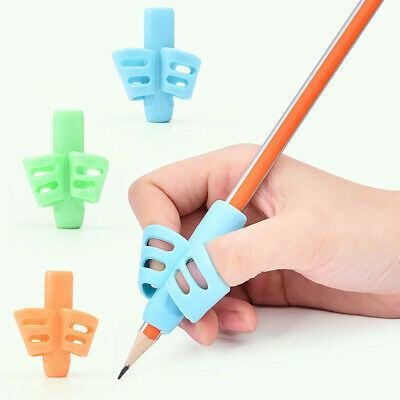 Two-Finger Grip Silicone Baby Learning Writing Tool Kid Writing Pen Holder HS36