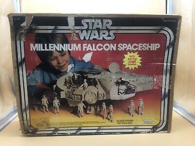 1979 Star Wars Big Millennium Falcon Spaceship  Used With Original Box Kenner !