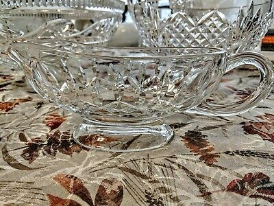 "Waterford Crystal Lismore 9"" Gravy Sauce Boat (Footed)"