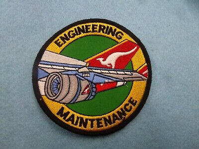 2 x Qantas Engineering Maintenance Multi Coloured Patches