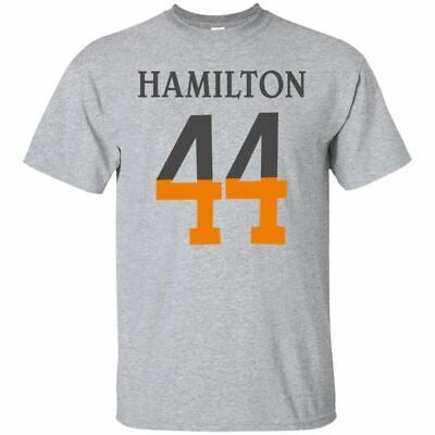 New Formula 1 Men's Lewis Hamilton #44 White Grey T-Shirt Amg Petronas Tee S 3Xl
