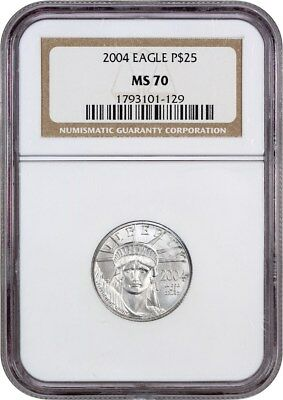 2004 Platinum Eagle NGC MS70 - Statue Liberty 1/4 oz