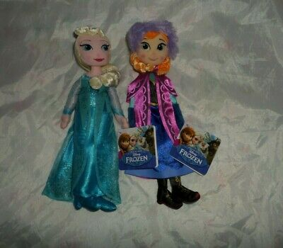 "Disney Frozen 10"" Ragdoll Elsa or Anna Soft Toy Plush Princess Doll By Posh Paws"