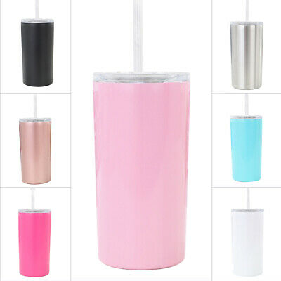 12oz Tumbler Cup With Straws Stainless Steel Water Bottle Vacuum Insulated Mug