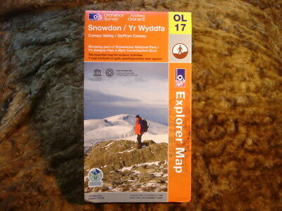 Ordnance Survey Map: Explorer: Ol17 Snowdon & Conwy Valley. 2009