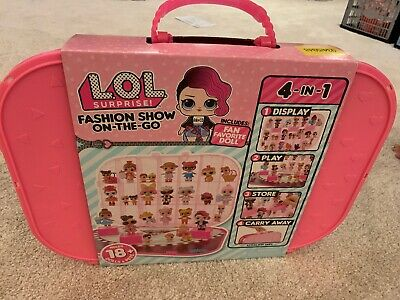 LOL Surprise! Fashion Show On-the-Go Storage Playset NEW WITH DOLL Dark Pink