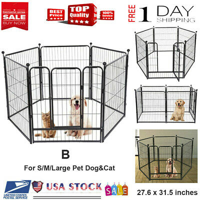 Dog Pet Playpen Heavy Duty Metal Exercise Fence 6 Panel 24in Pet Fence Supplier