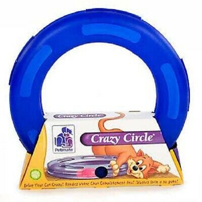 Aspen Pet CRAZY CIRCLE Cat Toy LARGE or SMALL Interactive BLUE