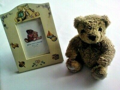 Photo Frame And Teddy Bear  Nice Item And uk Free Post