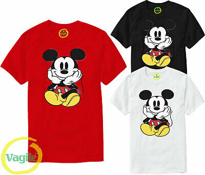 Mickey Mouse Retro Kick Disney Birthday Christmas xmas Mens Ladies T Shirt Top
