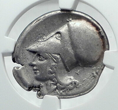 CORINTH Authentic Ancient Silver Stater GREEK Coin w PEGASUS ATHENA NGC i81278