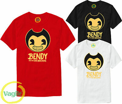 Bendy and The Ink Machine Men Women Horror Game Inspired Adult Unisex T-Shirt