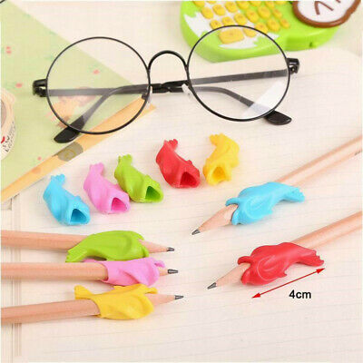 10pcs Children Pencil Holder Pen Writing Aid Grip Posture Tools Correction OZ AU