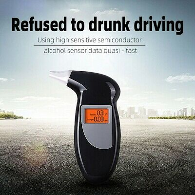 Alcohol Breath Tester Professional Breathalyser Detector Electronic LCD Digital